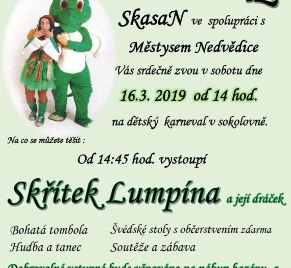 Dětský karneval se Skřítkem Lumpínou